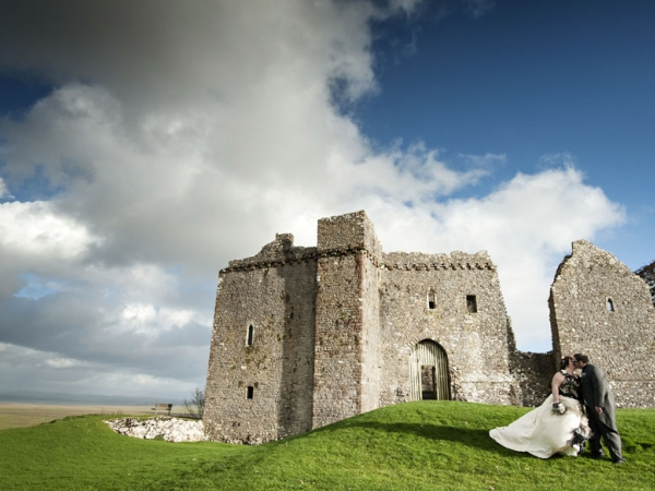 wales wedding photographer, weobley castle