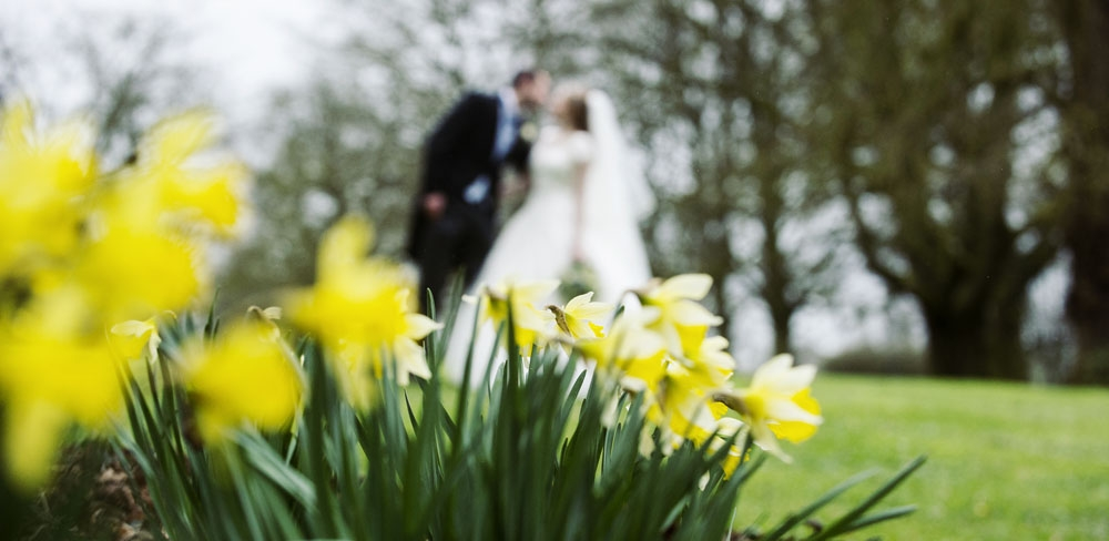 bride and groom in venue grounds, warwickshire wedding photographer, Ansty Hall