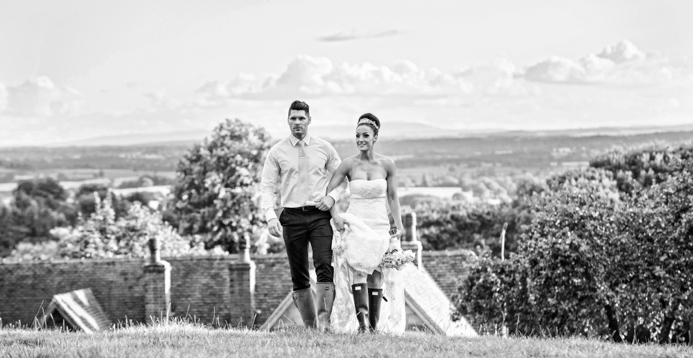 bespoke wedding photography wellington boots wedding