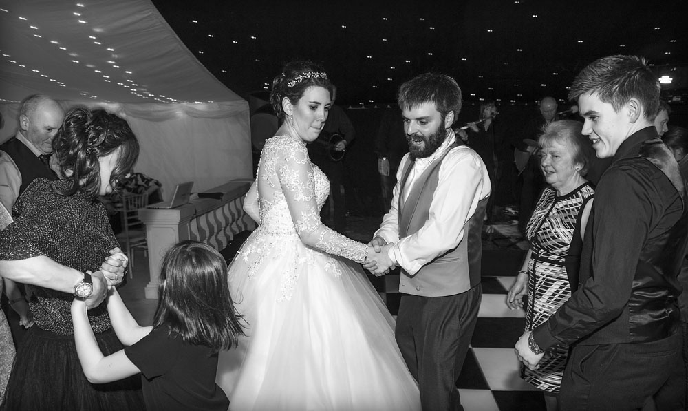 black and white first dance, cheshire wedding photographer