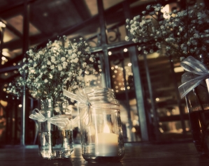 vintage glass table centrepieces, manchester wedding photographer, Great John Street Hotel