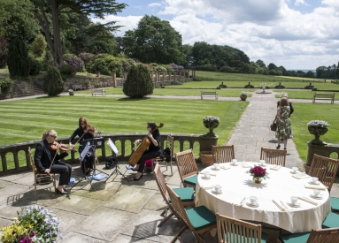 afternoon tea, string trio, staffordshire wedding photographer, heath house weddings