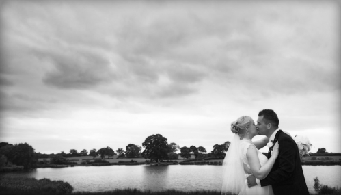black and white, bride and groom lakeside, cheshire wedding photographer, sandhole oak barn