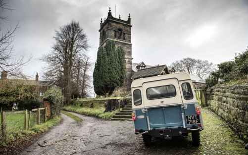 village church and land rover defender, cheshire wedding photographer
