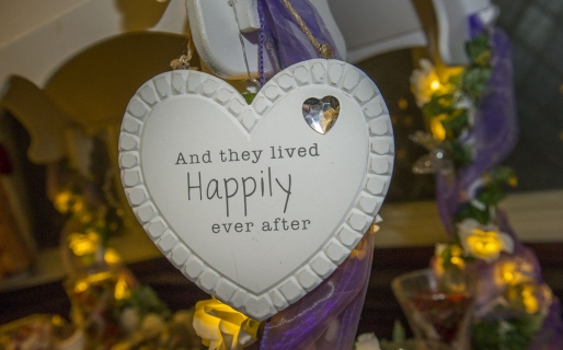 happily ever after sign, heart, cheshire wedding photographer, crewe hall