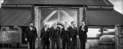 black and white, groom and best men, gloucestershire wedding photographer, cripps barn