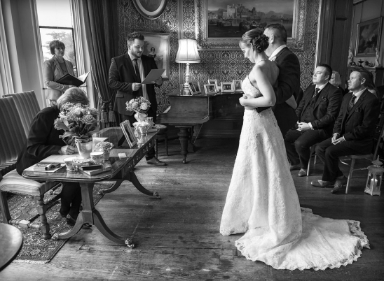 black and white bride and groom vows, staffordshire wedding photographer, heath house weddings