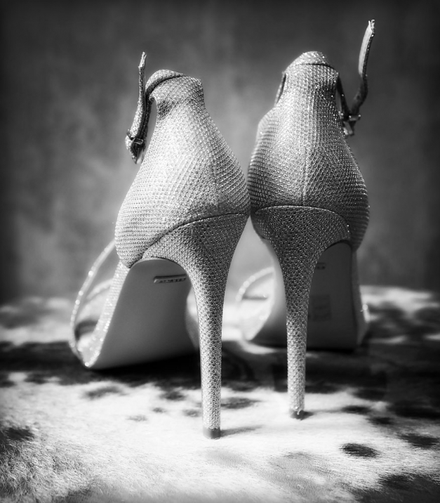 high heeled bridal shoes black and white, manchester wedding photographer, Great John Street Hotel