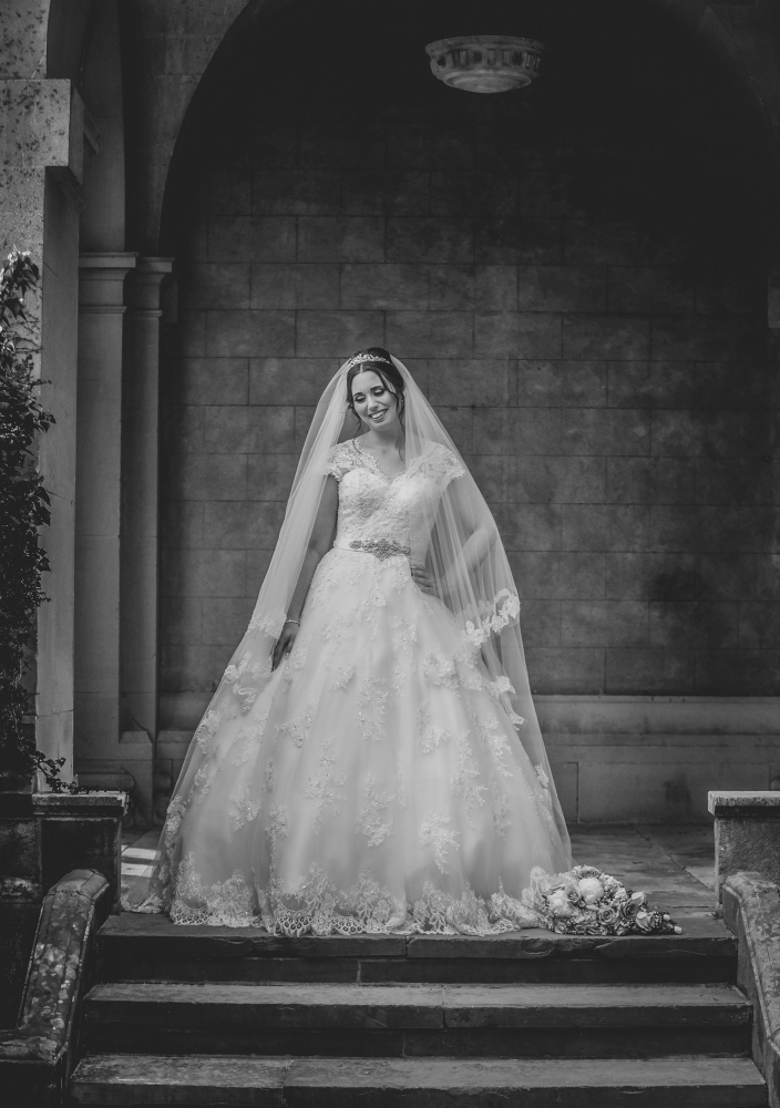 bridal portrait fine art wedding