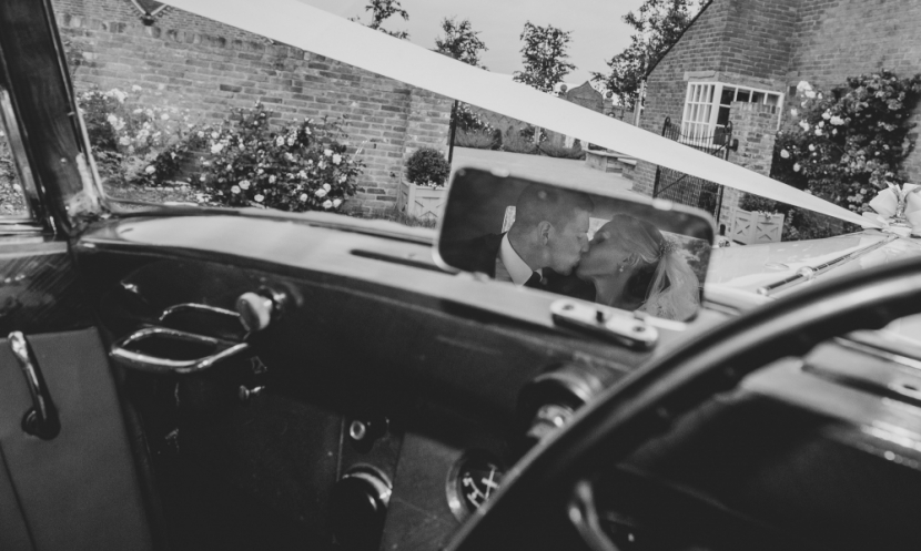 creative car wedding photograph