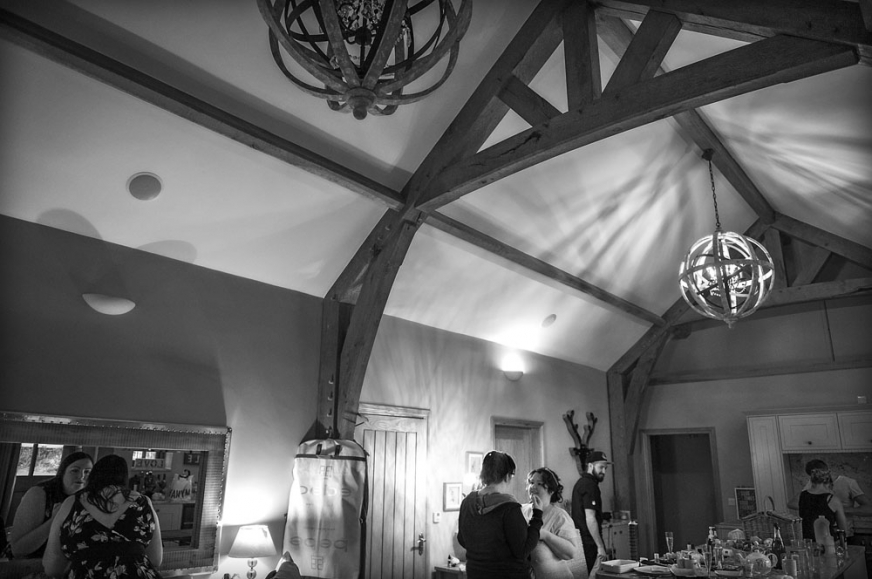 black and white bridal preparations, wedding photographer in wales